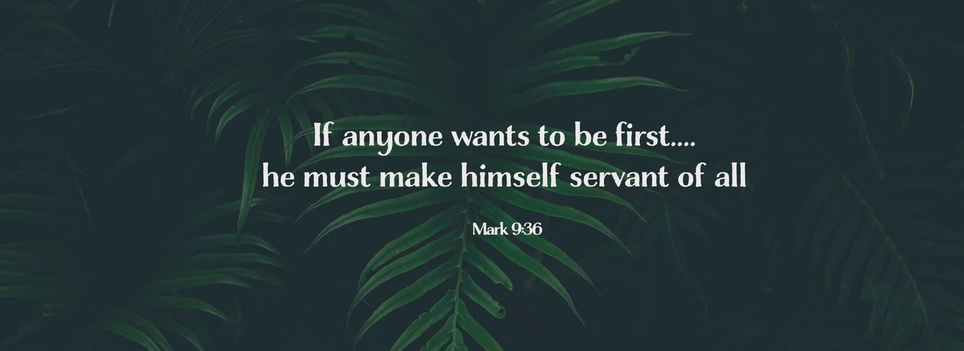 Mark 9:36